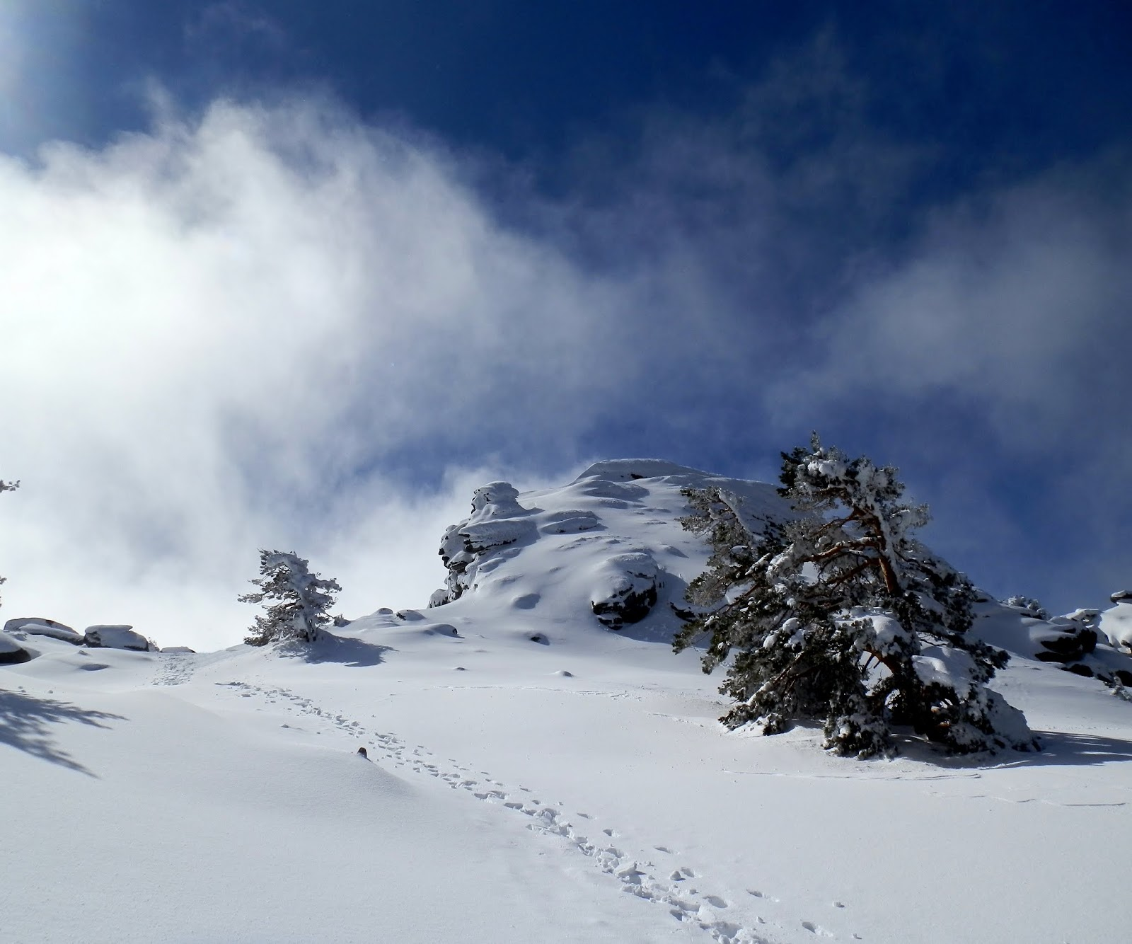 iniciación senderismo Invernal, Siete picos