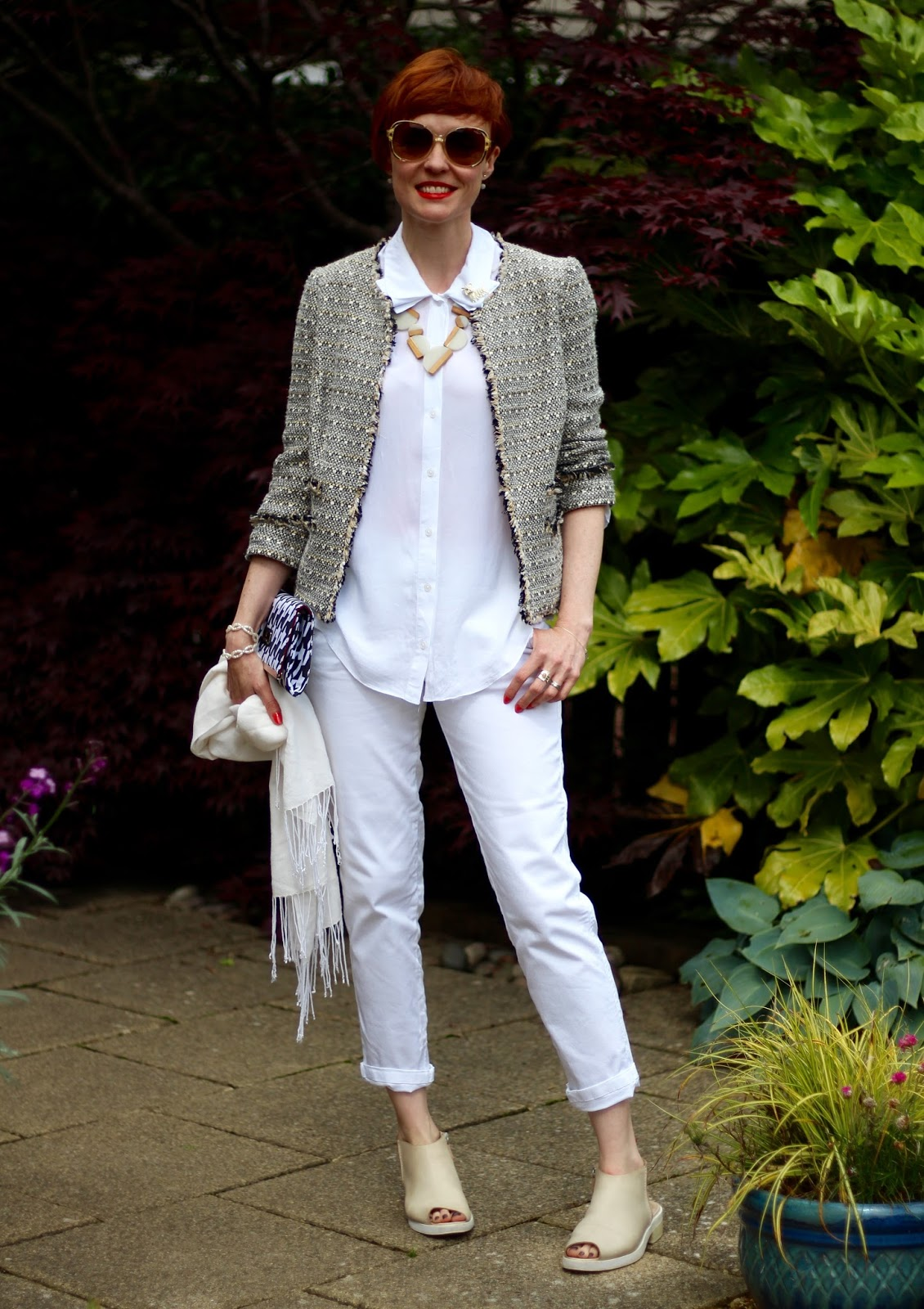 Fake Fabulous | The Fab40's | 9 ways to wear an all white outfit, over 40.