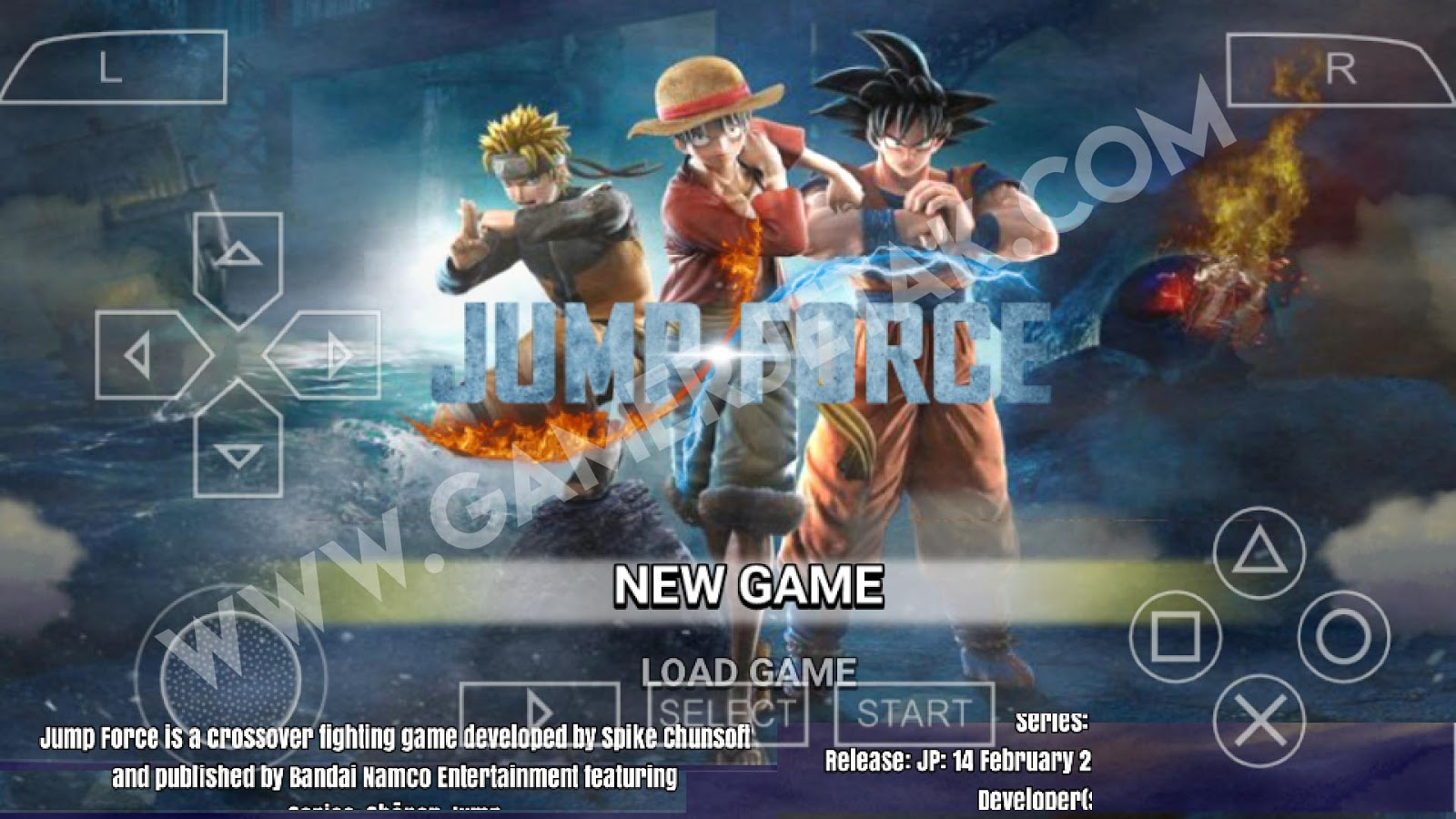 Game Jump Force Android PPSSPP Mod Naruto Ultimate Ninja Impact