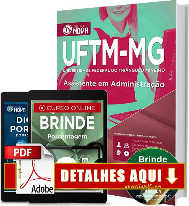 Apostila UFTM MG 2016 Assistente em Administração Impressa