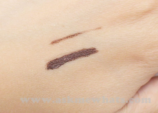 a swatch photo of L'Oreal 24H Super Liner Waterproof Gel Eyeliner in Brown