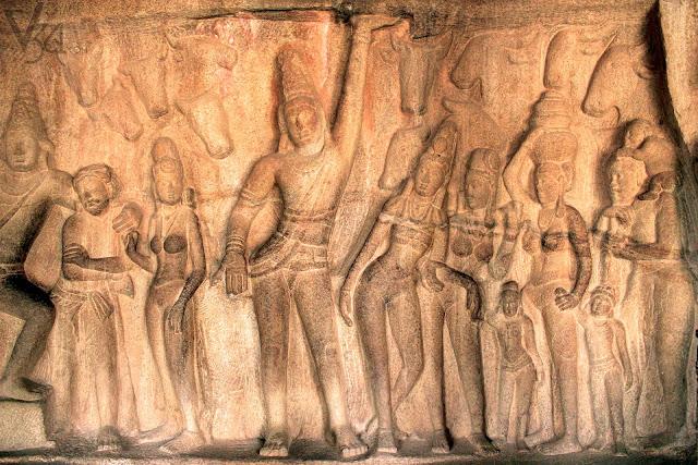Bas-relief of Govardhandhari