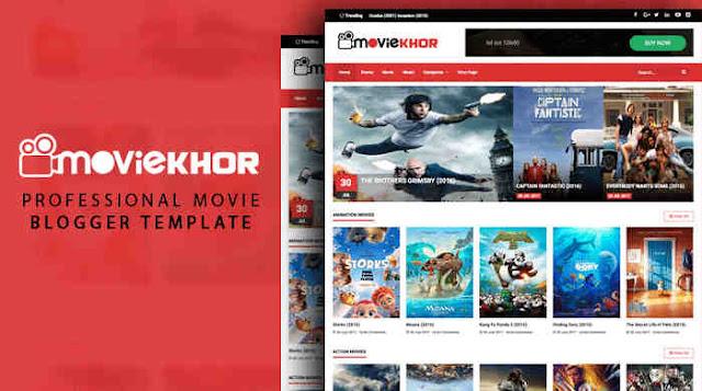 MovieKhor Movie Blogger Template+Responsive Blogspot Template