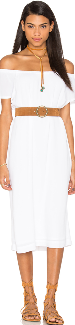 WILT Off The Shoulder Peasant Dress
