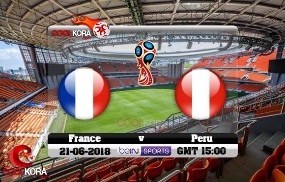 مشاهدة مباراة فرنسا وبيرو اليوم 21-6-2018 بي أن ماكس كأس العالم 2018