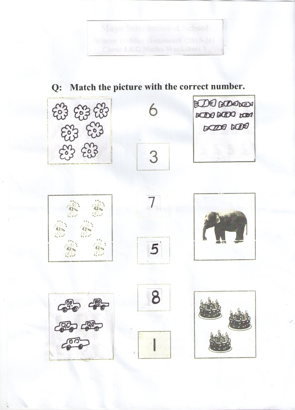 Lkg B English D A V Public School Kailash Hills Winter Break Holiday Homework 17 Class