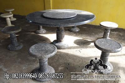 Meja Makan Marmer Bulat