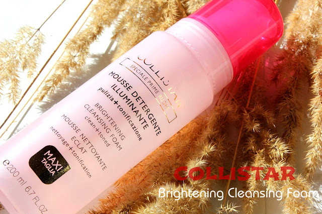 Отзыв: Очищающая пенка с антивозрастным эффектом для чувствительной кожи - Collistar Brightening Cleansing Foam.