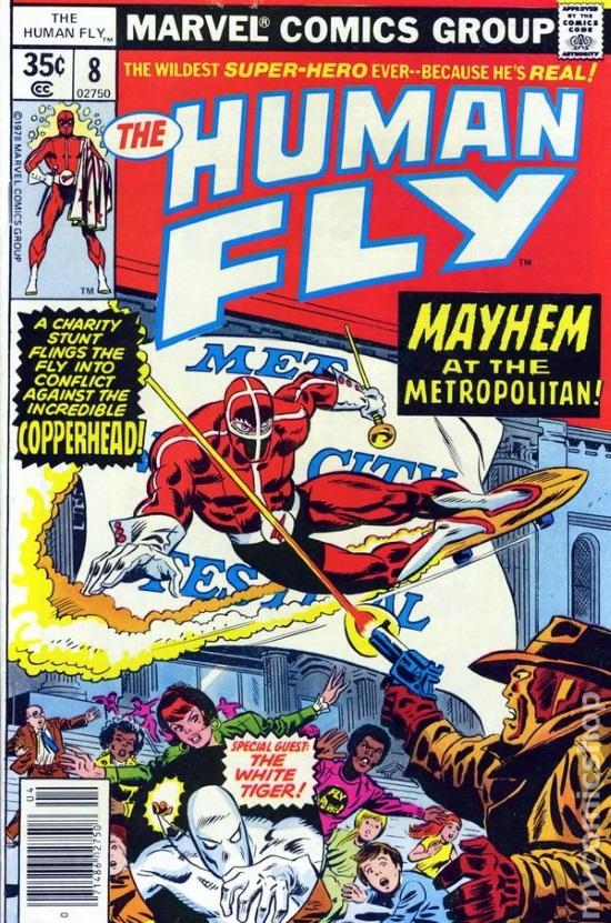 Portada de The Human Fly #8, obra de Frank Robbins y Mike Esposito