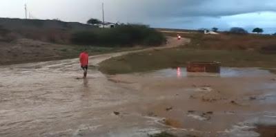 Moradores da Serra de Cuité comemoram chuvas caídas na região