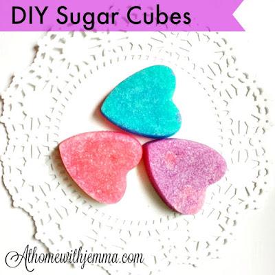 sugar cubes, colored sugar cubes, food coloring, party