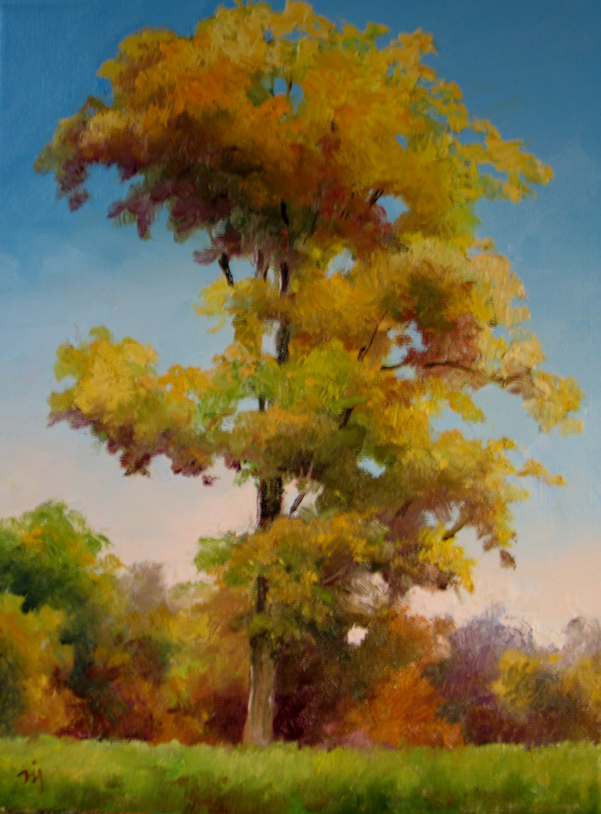 Nel's Everyday Painting: Fall Tree Portrait - SOLD