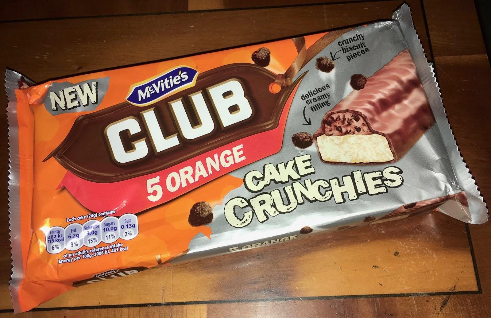Foodstuff Finds Mcvities Club Orange Cake Crunchies Asda