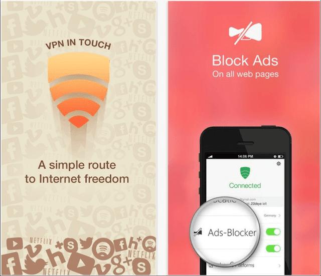 تطبيق VPN in Touch لتسريع الأنترنت على الآيفون