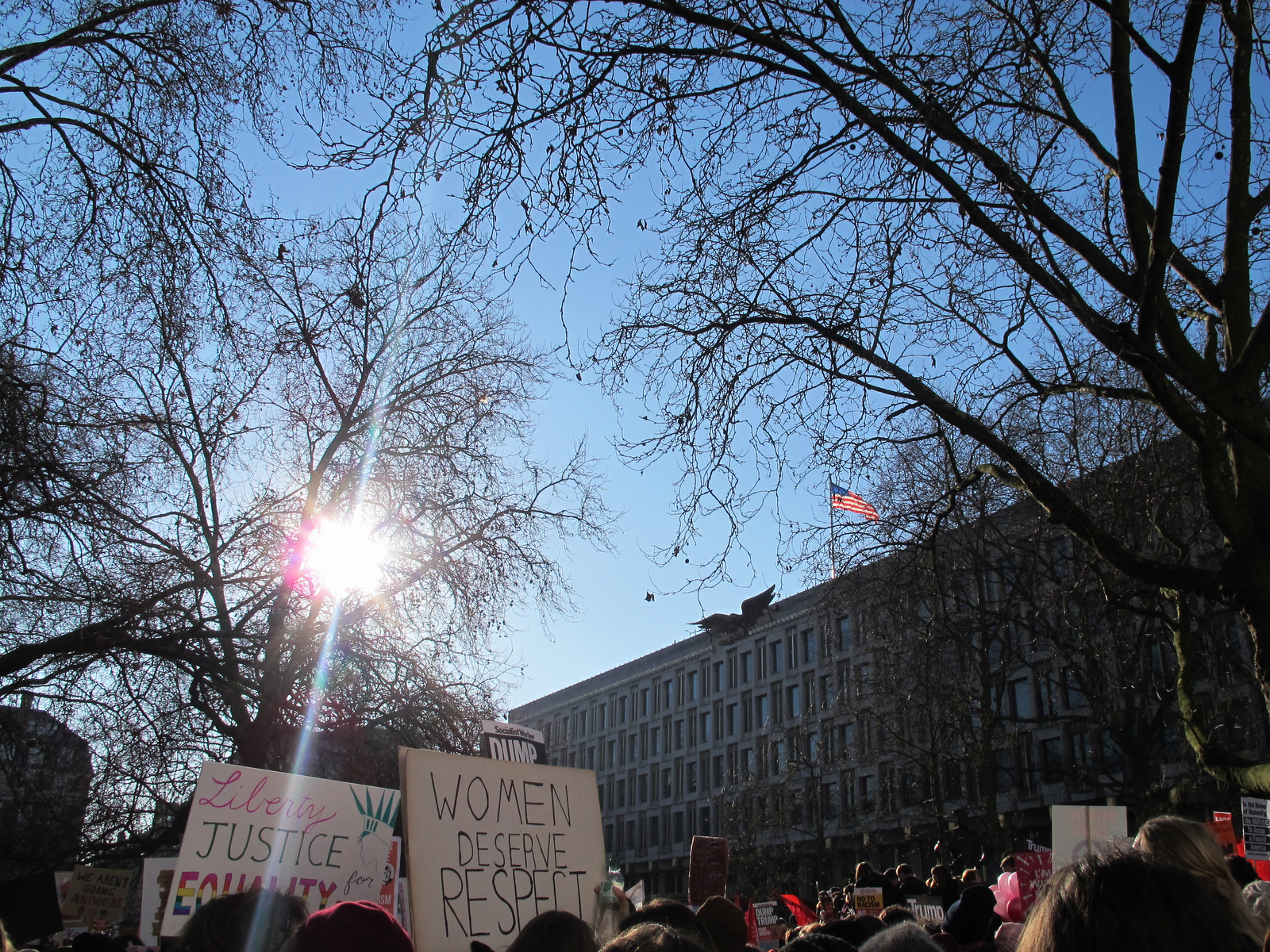 President Trump Womens March 2017 Adventures of a London Kiwi
