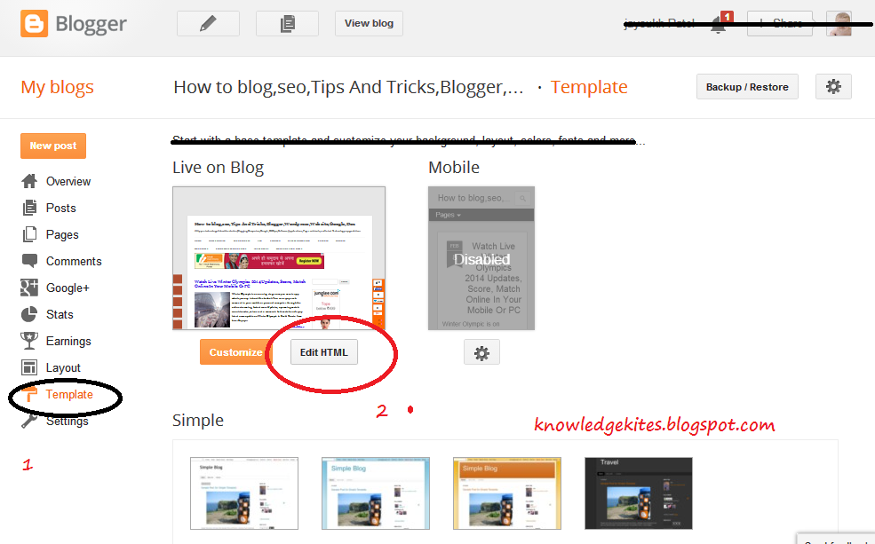 add Meta-tags in blogger blog and blog post