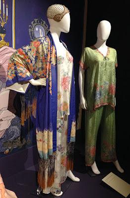 1920s nightwear - pyjamas and robe