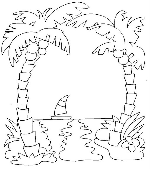 Paisajes De Playas Con Palmeras Para Pintar Bild Paisajes
