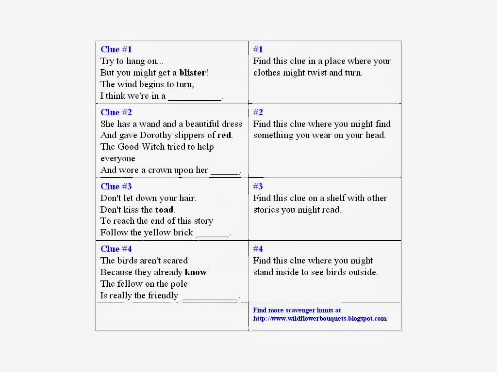 Scavenger Hunt Riddles For Adults 61