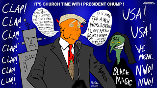 State of The Union Trump Political Satire Cartoon