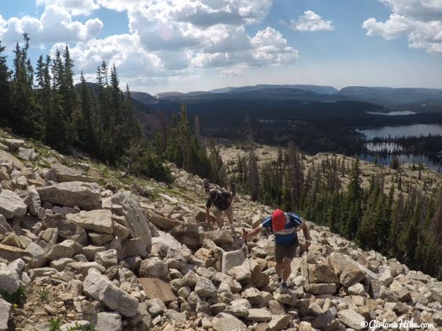 Hiking to Notch Mountain (West Summit), Uintas