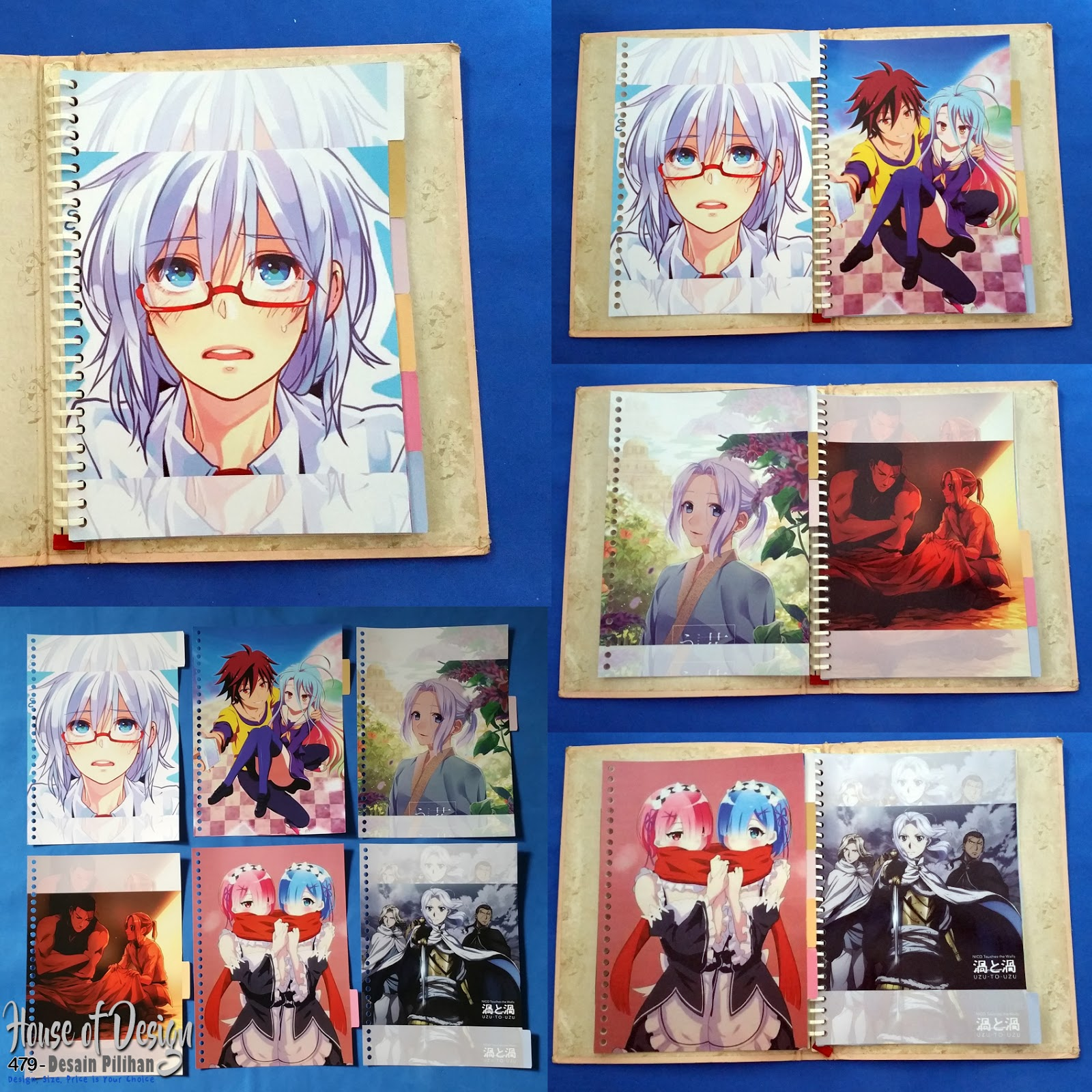 PEMBATAS BINDER SAMPING 26 RING UKURAN B5 ANIME CUSTOM MURAH