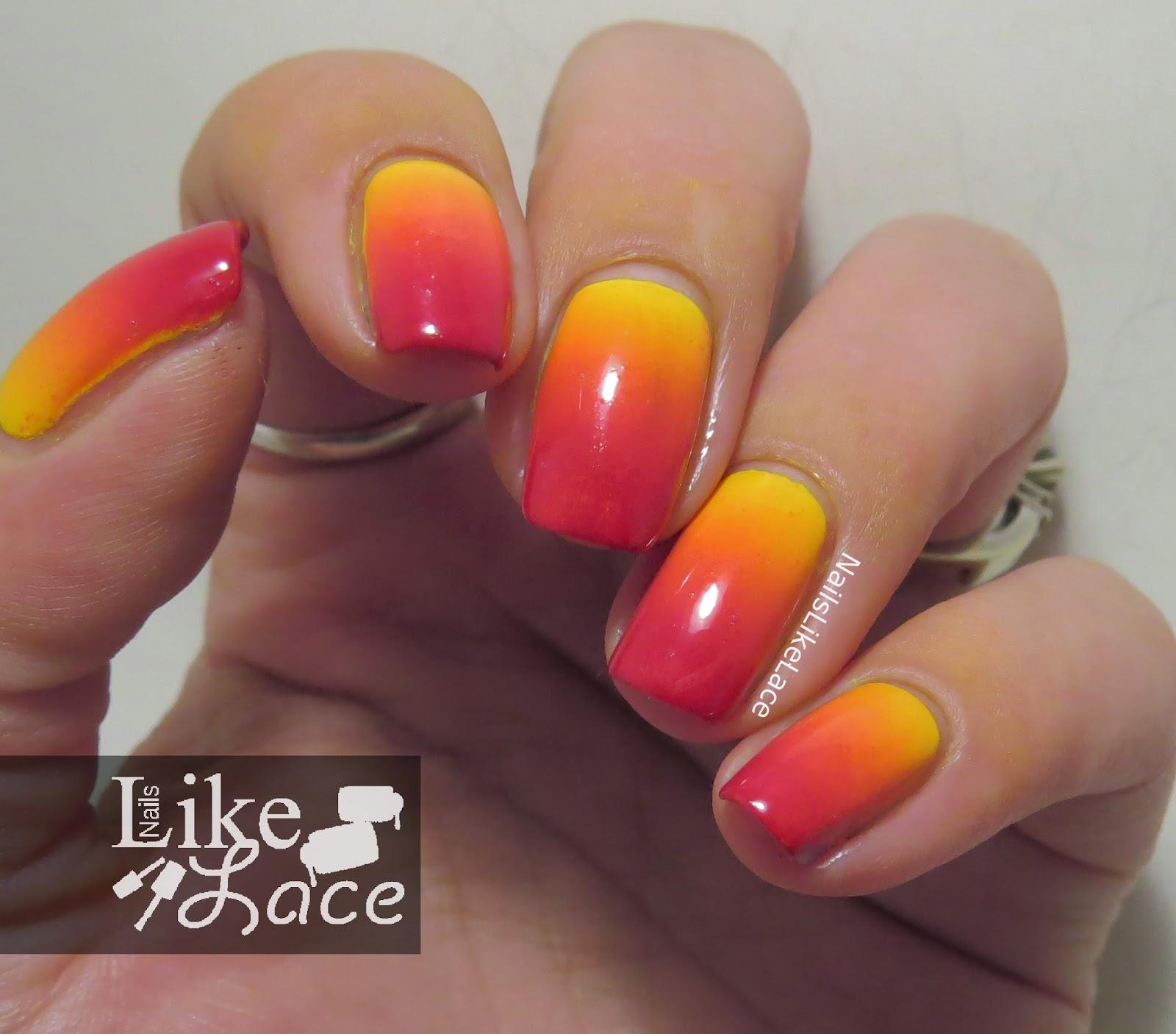 NailsLikeLace: Love, Peace, Sunshine & Polish - Fire Gradient