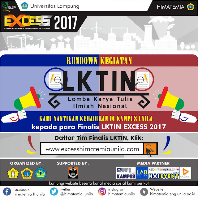 Rundown Kegiatan EXCESS 2017