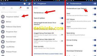 cara matikan pemberitahuan FB ketika layar terkunci