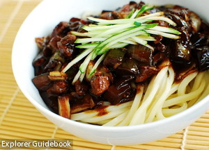 makanan korea korean black bean noodle