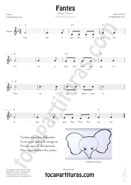 Flauta Travesera, flauta dulce y flauta de pico Partitura de Fantes Sheet Music for Flute and Recorder Music Scores