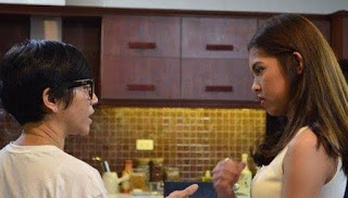 Bb. Joyce Bernal and Maine Mendoza on the set of God Gave Me You.