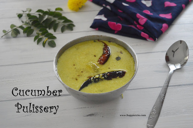 Cucumber Pulissery Recipe | Vellarikkai Moru Curry | Cucumber Yogurt Curry