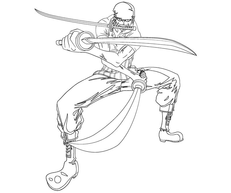 Roronoa zoro 4 coloring crafty teenager for Zoro coloring pages