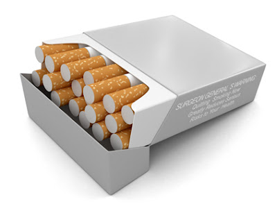 Plain cigarettes packet