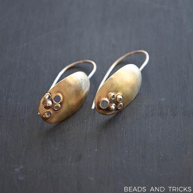 Orecchini ottone e argento