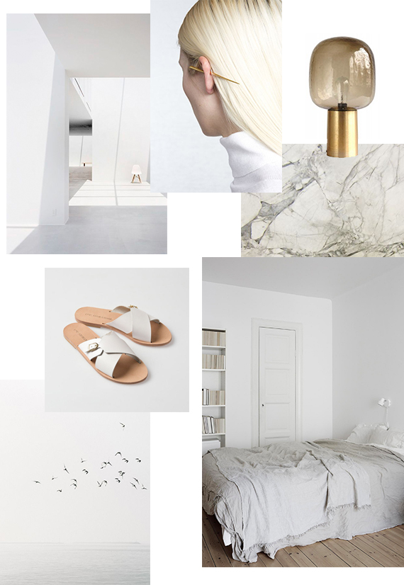 MOODBOARD: Distant whites curated by My Paradissi