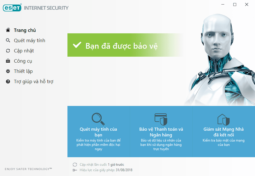 Giao diện của ESET