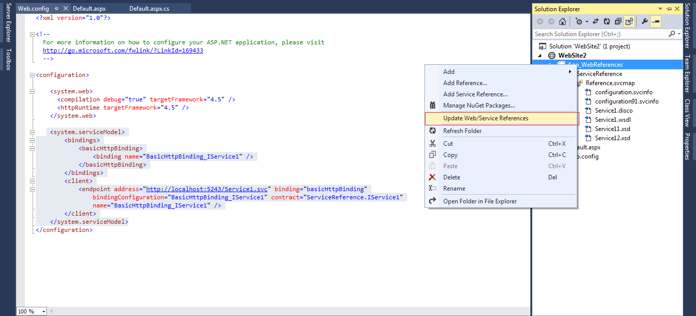 WCF tutorial: Create and Consume WCF Service using visual studio