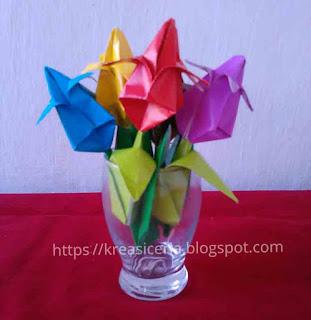 Cara Mudah Membuat Origami Bunga Tulip