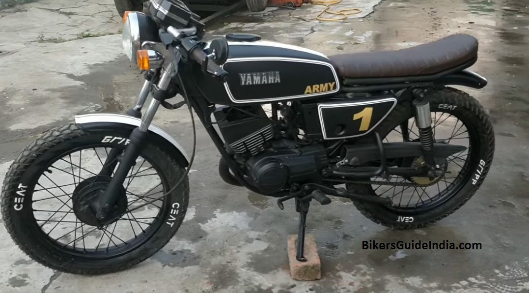 Yamaha RX 135 converted to cafe racer look modified | Video