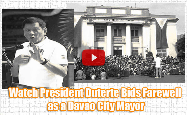 Watch President Duterte Bids Farewell as a Davao City Mayor