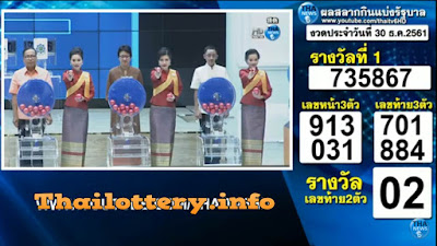 Thailand Lottery Result 30 January 2019 Live Streaming Online