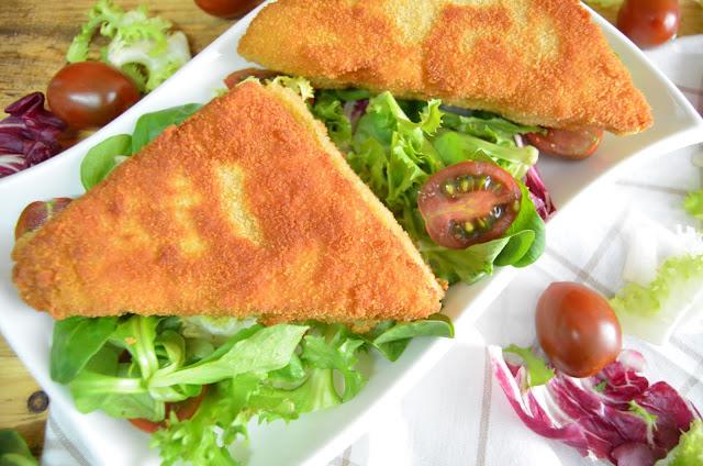 sándwich, sándwich empanados, sándwich de jamón y queso, recetas de sándwich, recetas para niños, recetas para peques, sándwich rebozados, las delicias de mayte,