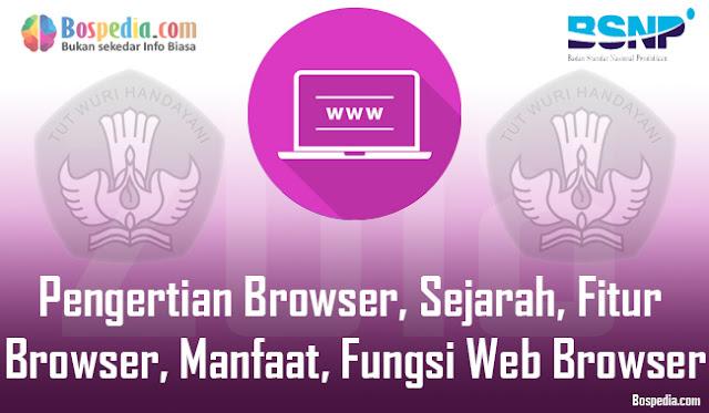 Pengertian Browser, Sejarah, Fitur Browser, Manfaat dan Fungsi Web Browser