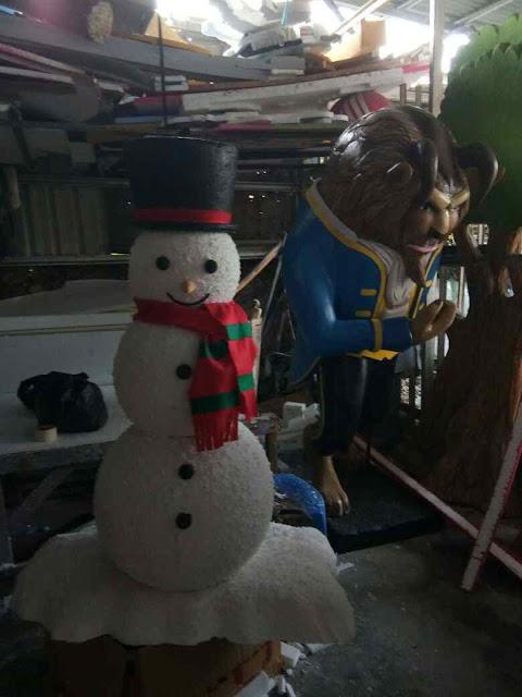 Custom Patung Boneka manusia salju / snow man styrofoam dekorasi Natal christmas eve