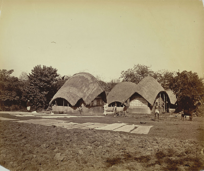 Kassimpore Village in Bengal - c1860