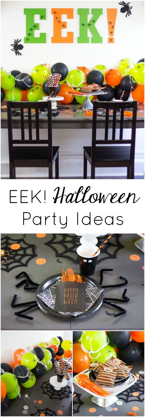 Simple ideas for hosting a creepy crawly spider-themed Halloween party!