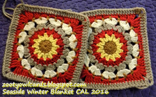 Zooty Owls Crafty Blog Seaside Winter Blanket Cal Square 8 St