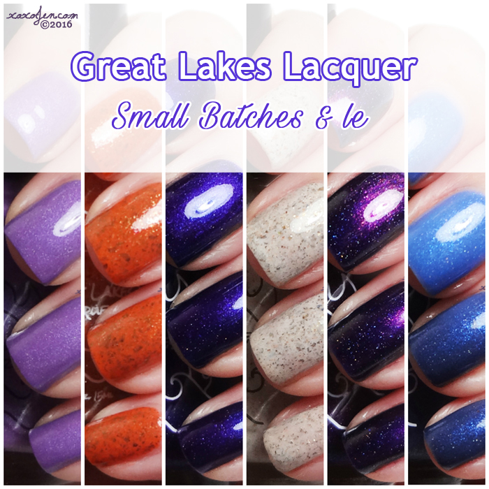 xoxoJen's swatch of Great Lakes Lacquer Small Batches and LE